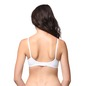 Cotton Full Cup Lacy Bra - White