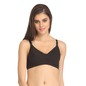 Cotton Full Cup Non-Padded Wirefree Nursing Bra - Black
