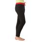 Cotton Full Length Yoga Pants - Black