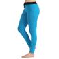 Cotton Full Length Yoga Pants - Blue