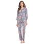 Cotton Full Sleeve Top & Pyjama - Blue