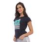 Cotton Graphic T-Shirt - Navy
