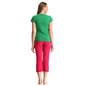Cotton Graphic T-shirt & Capri In Green & Hot Pink