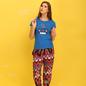 Cotton Graphic T-shirt & Crepe Printed Pyjama