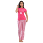 Cotton Graphic T-Shirt & Full Length Pyjama - Pink