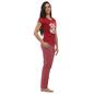 Cotton Graphic T-shirt & Full Length Printed Pyjama - Maroon