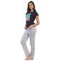Cotton Graphic T-shirt & Full Length Printed Pyjama - White