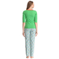 Cotton Graphic T-shirt & Printed Pyjamas In Green & Blue