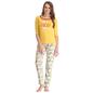 Cotton Graphic T-shirt & Printed Pyjamas In Yellow