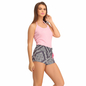 Cotton Halter Neck Camisole & Printed Shorts - Blue