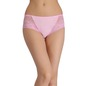 Cotton High-Waist Hipster with Lacy Side Wings & Trimmed Elastic - Pink