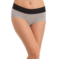 Cotton High Waisted, Tummy Smoothening Hipster - Grey