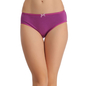 Cotton High Waist Hipster - Purple