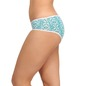 Cotton High Waist Hipster With Contrast Elastic Waistband - Blue