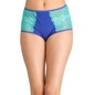Cotton High Waist Hipster With Lace Side Wings - Blue