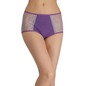 Cotton High Waist Hipster With Lace Side Wings - Purple