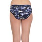 Cotton Mid Waist Panty - Navy