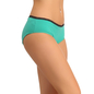 Cotton High Waist Hipster - Green