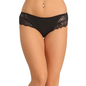 Cotton High Waisted Hipster - Black
