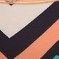 Cotton Mid Waist Bikini With Lace Waist Band - Navy