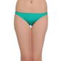 Cotton Low Waist Bikini With Contrast Overlock Design - Green