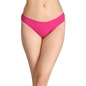 Cotton Low-Waist Bikini with Contrast Trimmed Elastic - Pink