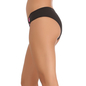 Cotton Spandex Bikini In Black With Contrast Front Lace Trims