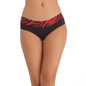 Cotton Spandex Bikini In Black With Lacy Front Waist
