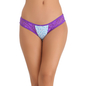Cotton Spandex Bikini In Blue With Lacy Sides