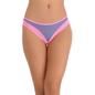 Cotton Spandex Bikini In Lavender With Contrast Lacy Trims