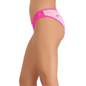 Cotton Spandex Bikini In Pink With Lacy Sides