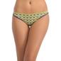 Cotton Spandex Bikini With Medium Waist Coverage - Green