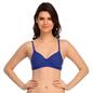 Padded T-Shirt Bra In Blue With Detachable Straps