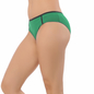 Cotton Spandex Bikini In Green With Mid Waist Coverage
