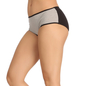 Cotton Spandex Hipster In Grey With Melange Fabric At Crotch