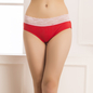 Cotton Spandex Hipster In Red