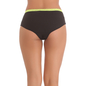 Cotton Spandex Hipster With Contrast Lace Band at the waist In Florescent Green