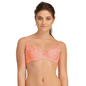 Cotton Spandex Nursing Bra In Pink With Embroidered Lace