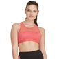 Cotton Spandex Racer Back Sports Bra In Coral