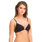 Cotton Spandex T-shirt Padded Bra With Detachable Straps - Black