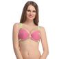 Cotton Melange Push Up Bra In Dark Pink With Detachable Straps