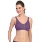 Cotton Non-Padded & Wirefree Sports Bra - Purple