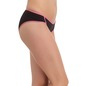 Cotton Mid Waist Bikini - Black