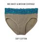 Cotton Mid Waist Bikini - Grey