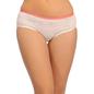 Cotton Mid Waist Bikini - White