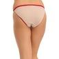 Cotton Mid Waist Bikini With Contrast Elastic Band - Beige