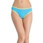 Cotton Mid-Waist Bikini with Contrast Elastic Trim - Blue