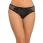 Cotton Mid Waist Bikini With Contrast Sides - Black