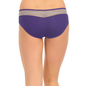 Cotton Mid Waist Bikini With Contrast Waist band - Purple