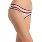 Cotton Mid Waist Bikini With Front Lace Trim - White